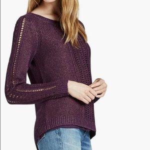Lucky Brand Metallic Mixed Sweater
